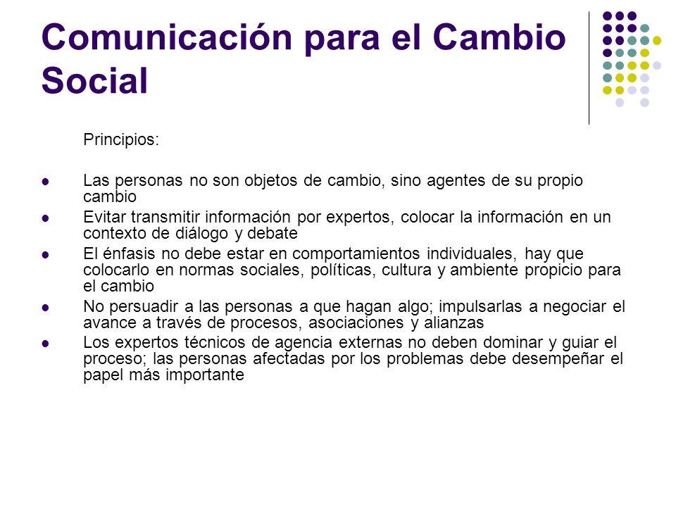 Comunicación para el Cambio Social