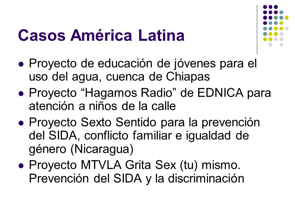 Casos América Latina Proyecto de educación de jóvenes para el uso del agua, cuenca de Chiapas.