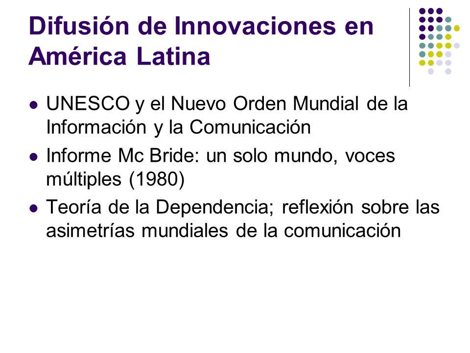 Difusión de Innovaciones en América Latina