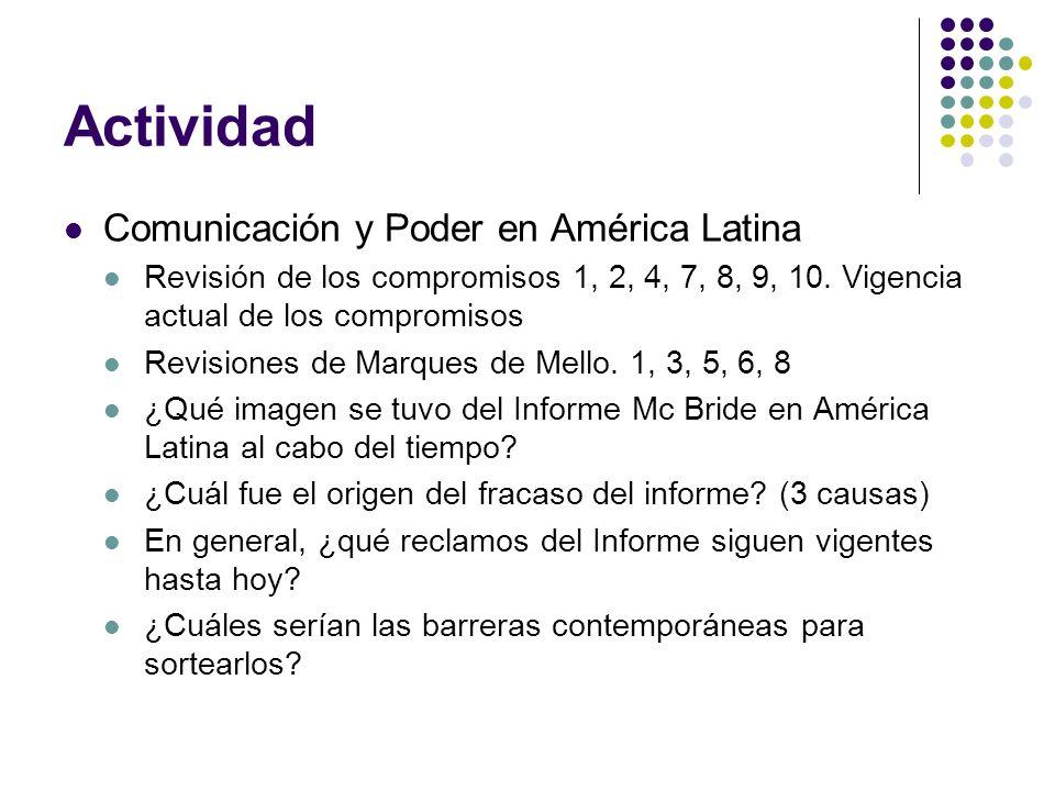 Actividad Comunicación y Poder en América Latina