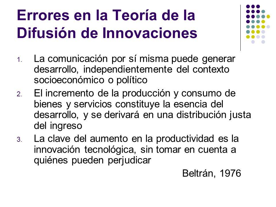 Errores en la Teoría de la Difusión de Innovaciones