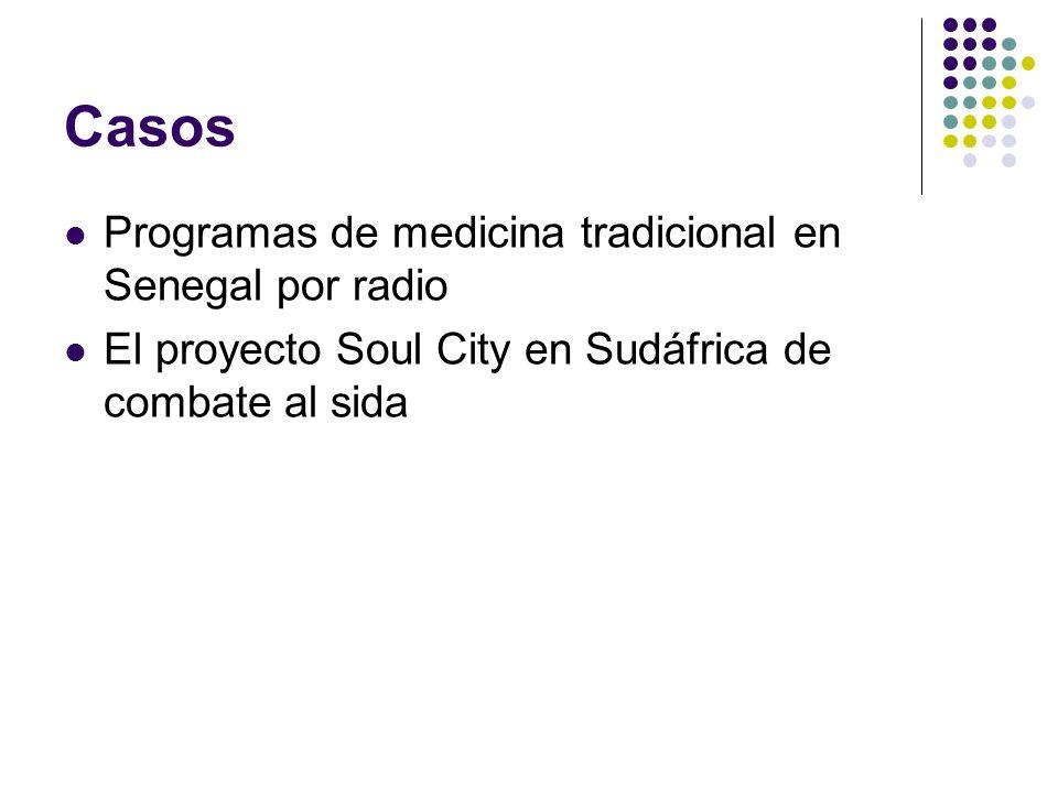 Casos Programas de medicina tradicional en Senegal por radio