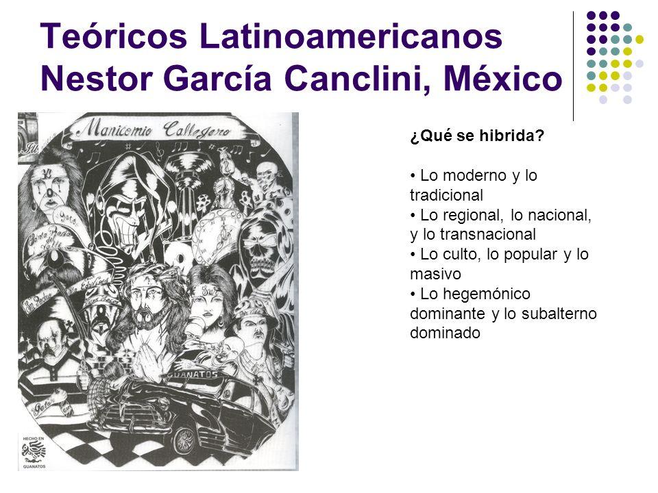 Teóricos Latinoamericanos Nestor García Canclini, México