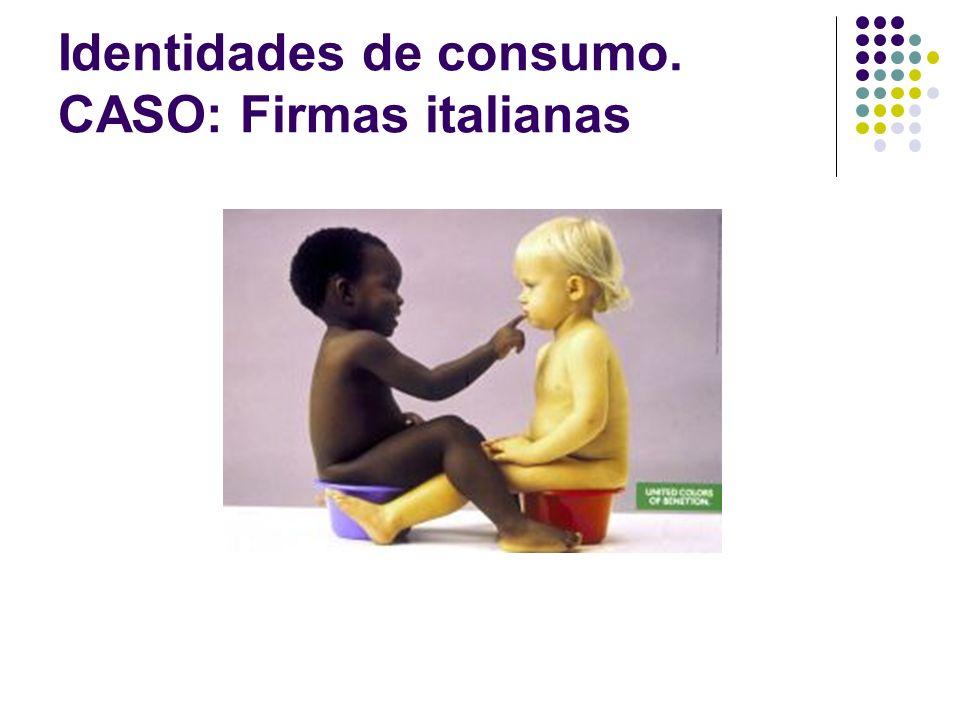 Identidades de consumo. CASO: Firmas italianas