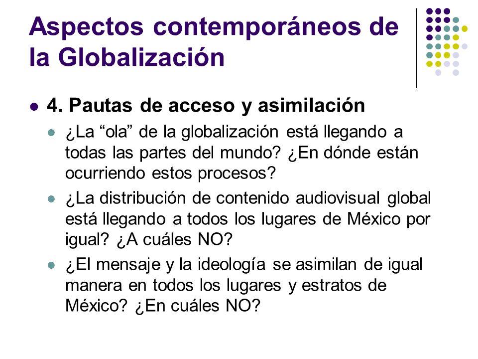 Aspectos contemporáneos de la Globalización