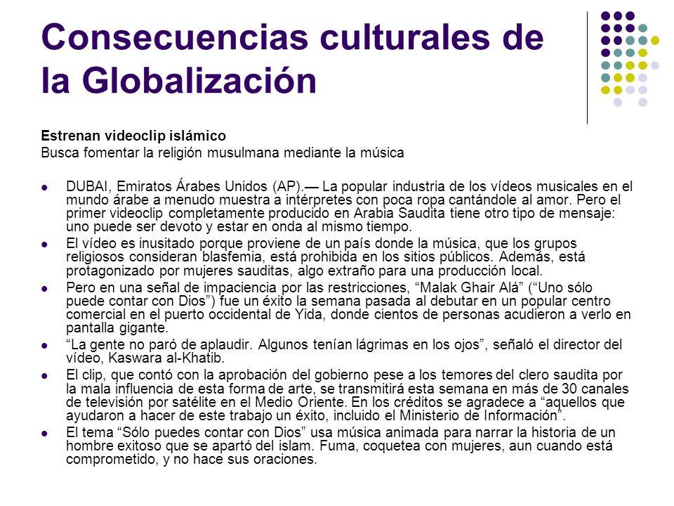Consecuencias culturales de la Globalización