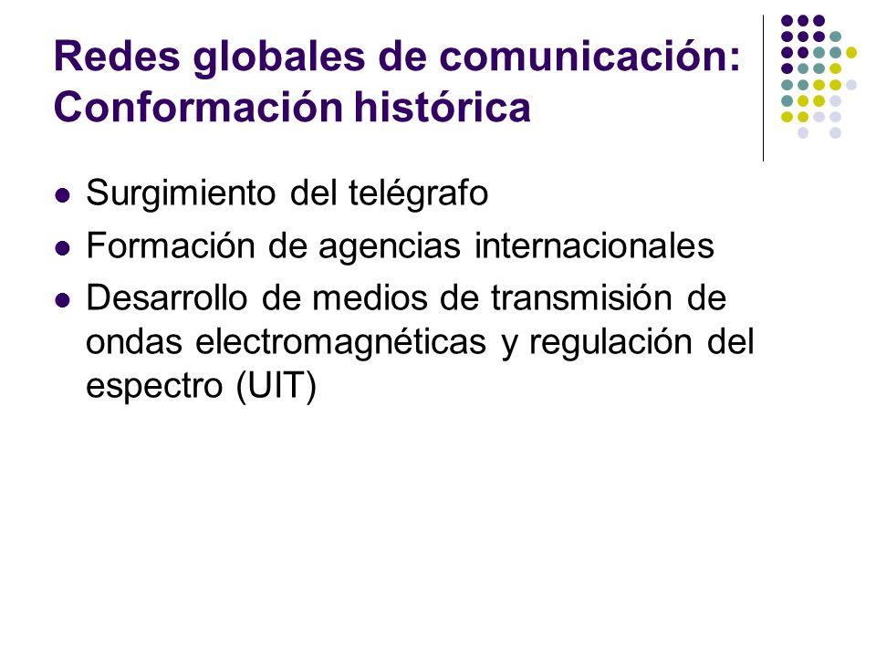 Redes globales de comunicación: Conformación histórica
