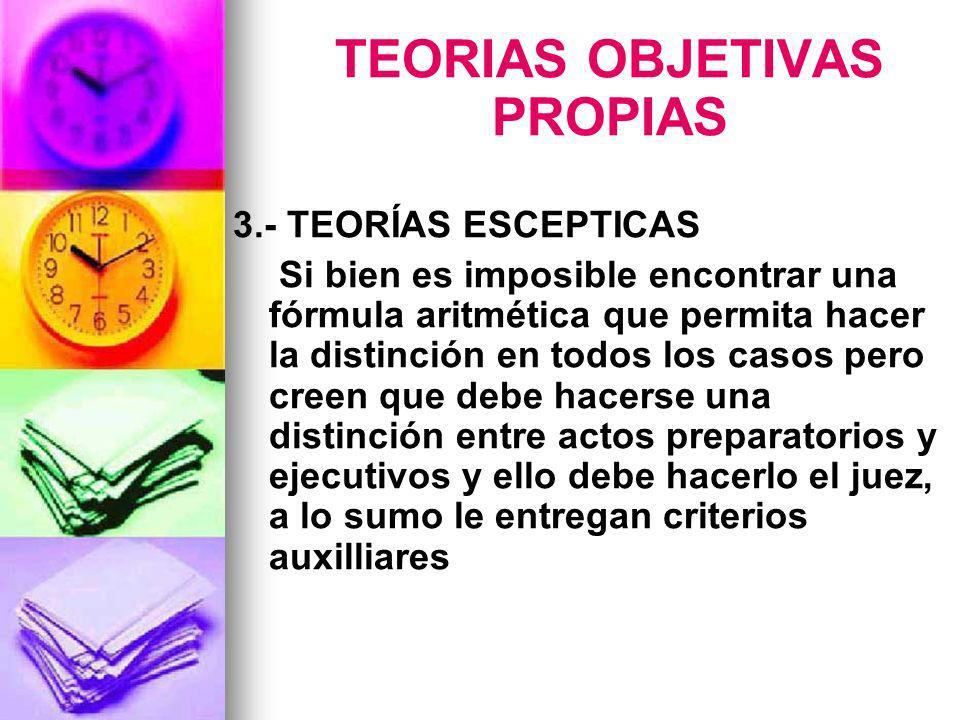 TEORIAS OBJETIVAS PROPIAS
