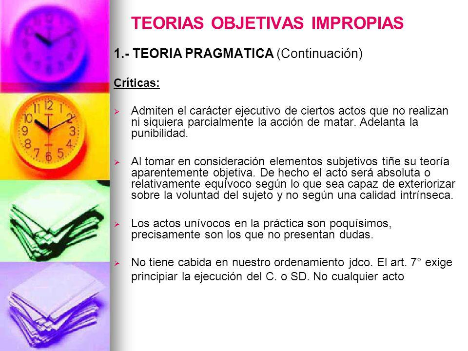 TEORIAS OBJETIVAS IMPROPIAS