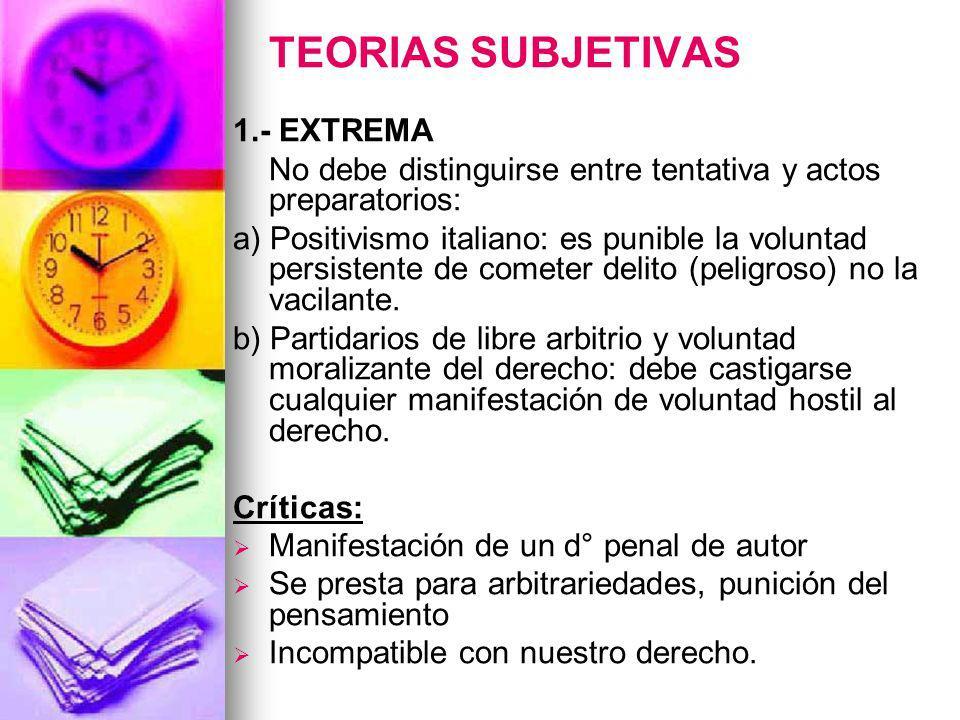 TEORIAS SUBJETIVAS 1.- EXTREMA