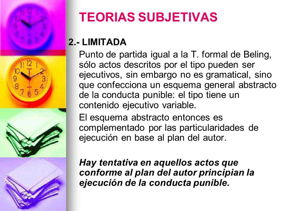 TEORIAS SUBJETIVAS 2.- LIMITADA