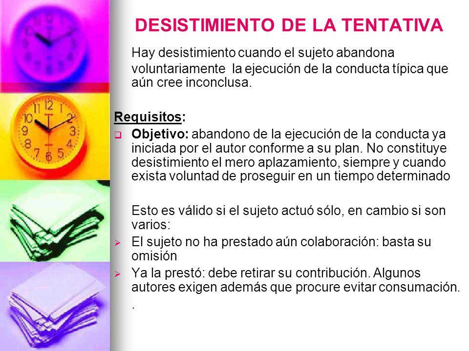 DESISTIMIENTO DE LA TENTATIVA
