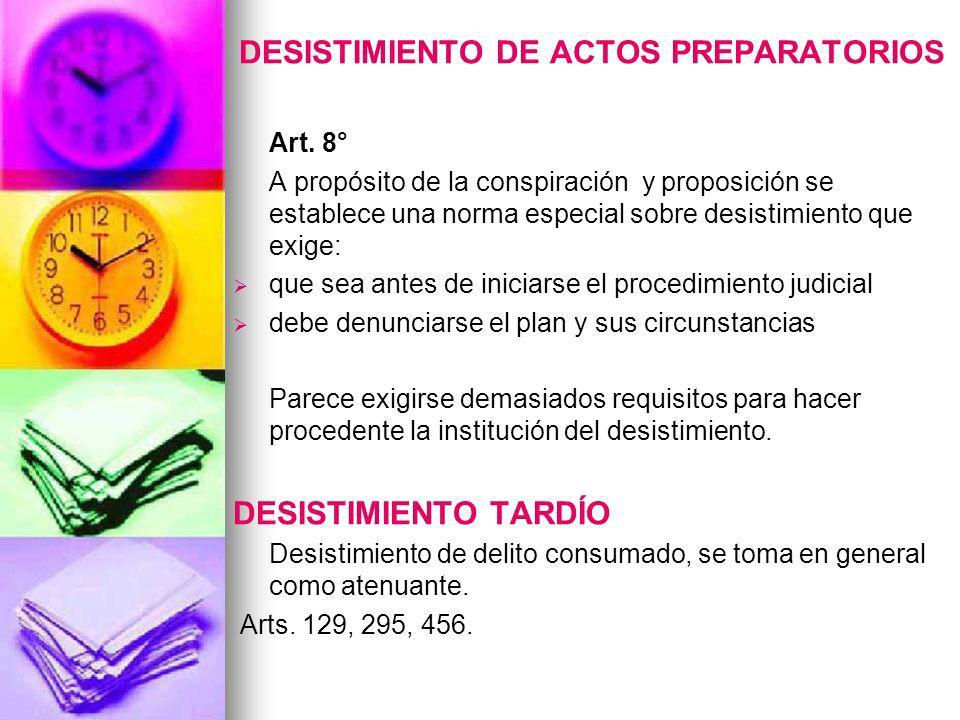 DESISTIMIENTO DE ACTOS PREPARATORIOS