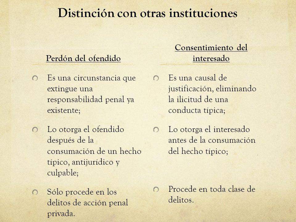 Distinción con otras instituciones