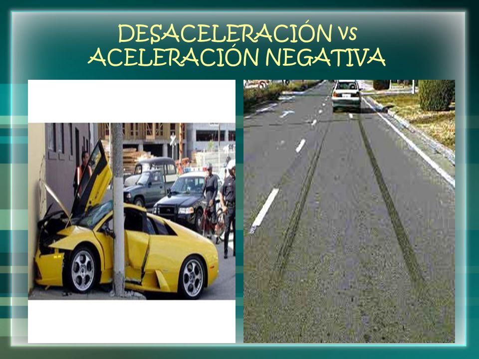 DESACELERACIÓN vs ACELERACIÓN NEGATIVA
