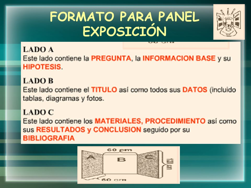 FORMATO PARA PANEL EXPOSICIÓN