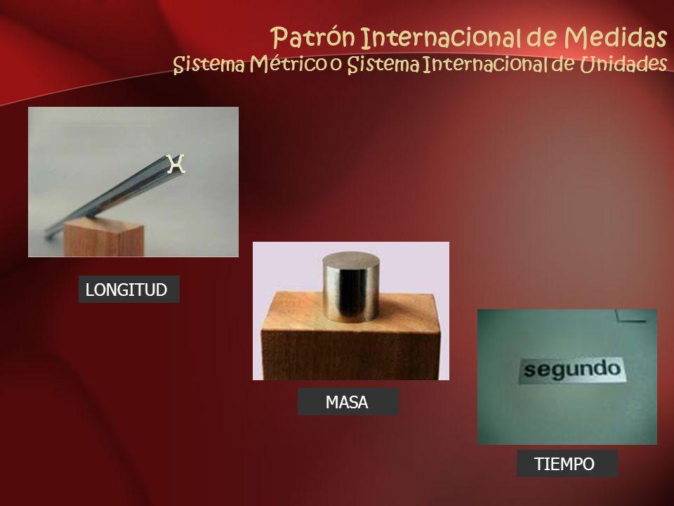 Patrón Internacional de Medidas Sistema Métrico o Sistema Internacional de Unidades