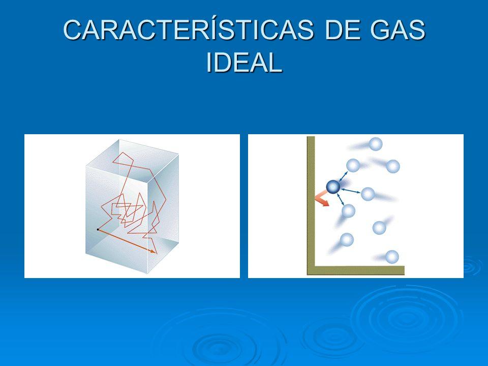 CARACTERÍSTICAS DE GAS IDEAL