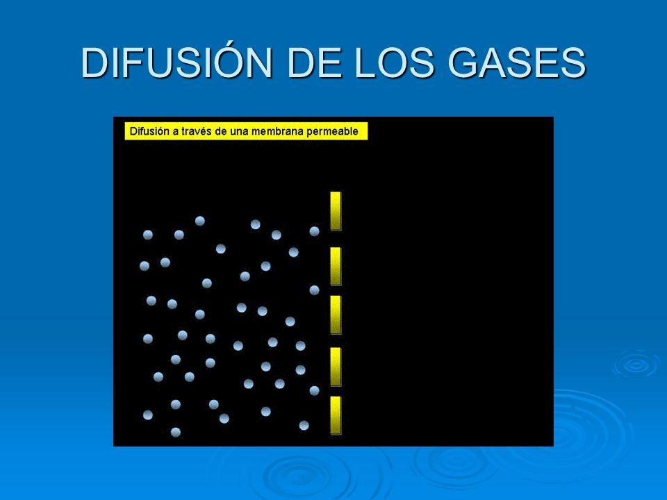 DIFUSIÓN DE LOS GASES