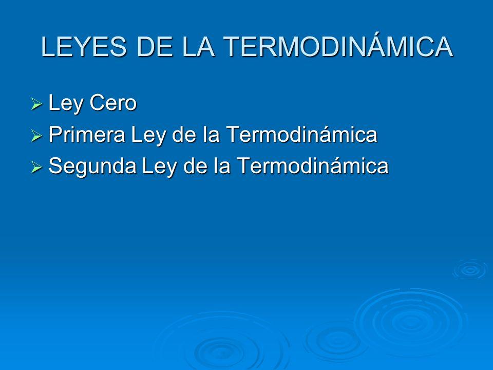 LEYES DE LA TERMODINÁMICA