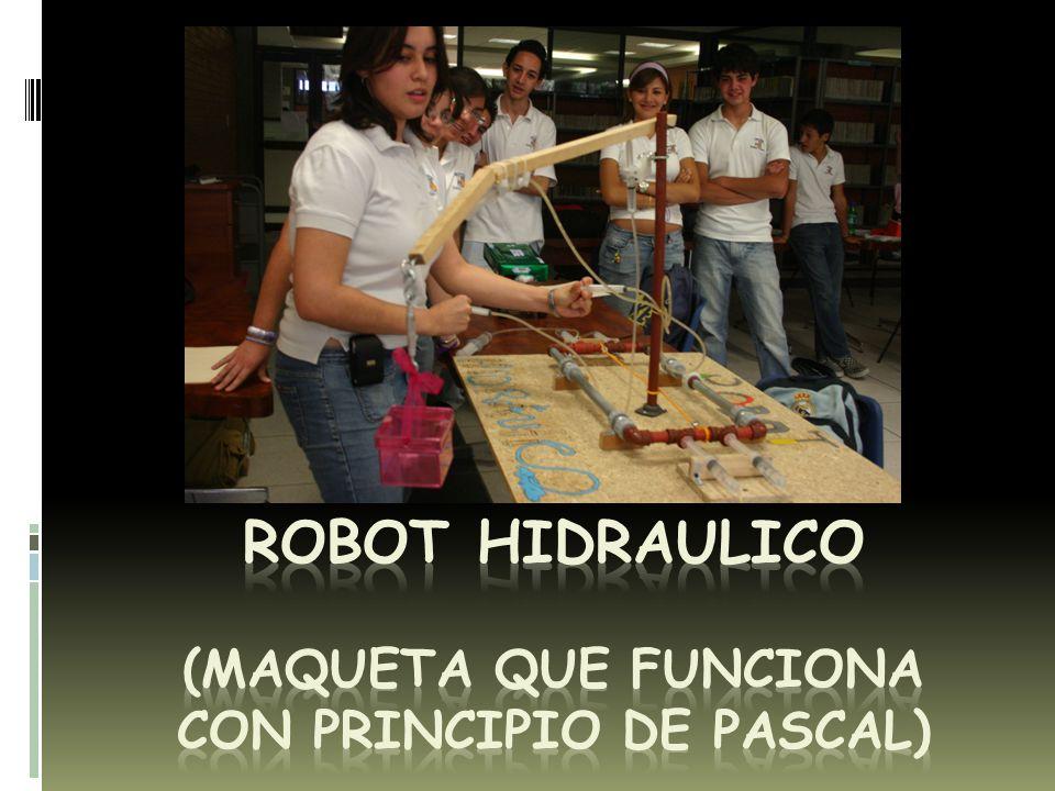 ROBOT HIDRAULICO (MAQUETA QUE FUNCIONA CON PRINCIPIO DE PASCAL)