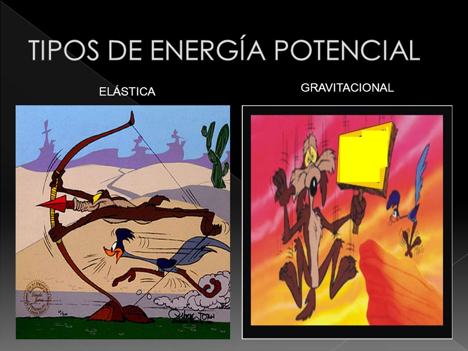 TIPOS DE ENERGÍA POTENCIAL