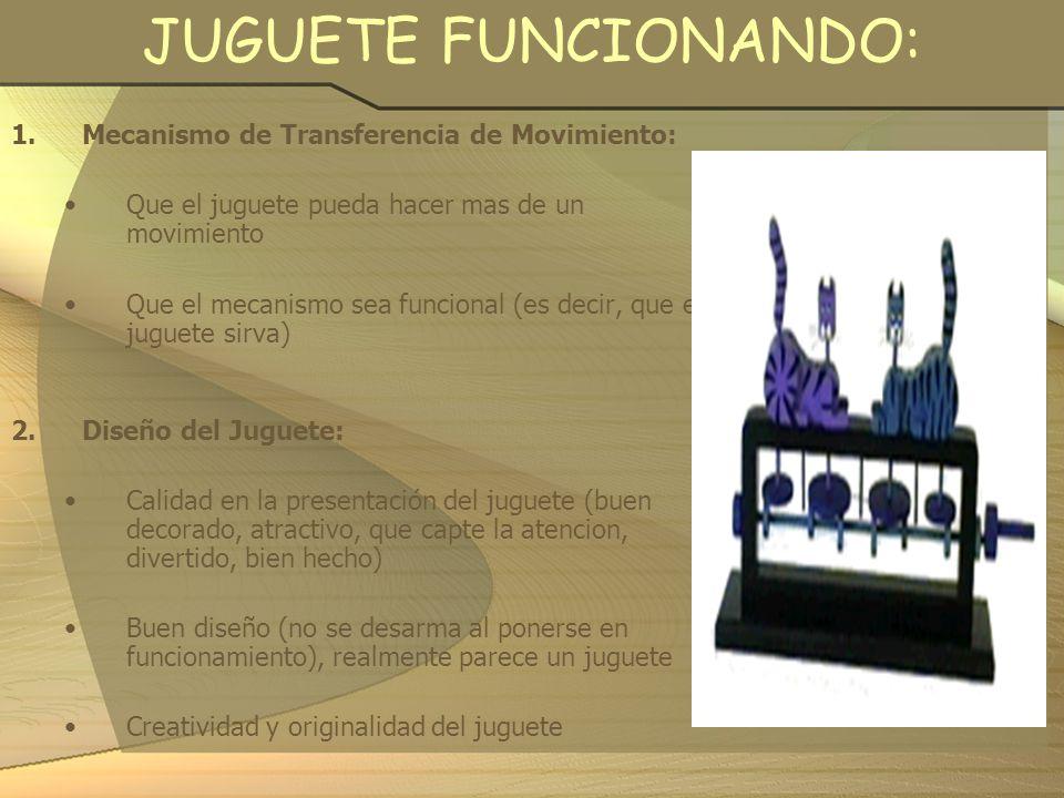 JUGUETE FUNCIONANDO: Mecanismo de Transferencia de Movimiento: