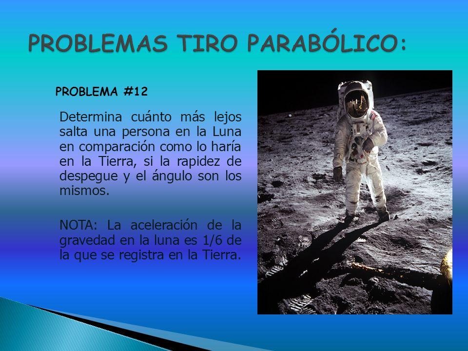 PROBLEMAS TIRO PARABÓLICO: