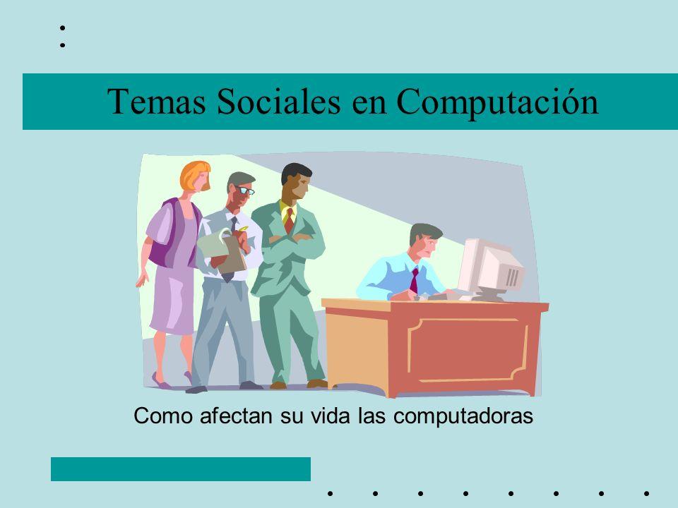 Temas Sociales en Computación