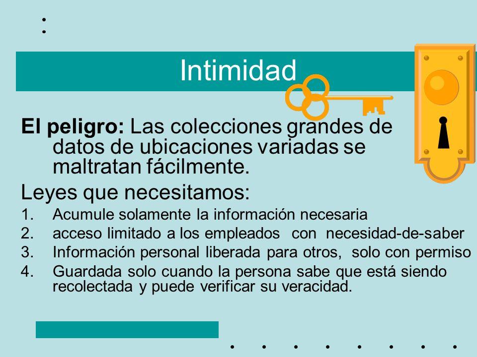 Intimidad El peligro: Las colecciones grandes de datos de ubicaciones variadas se maltratan fácilmente.