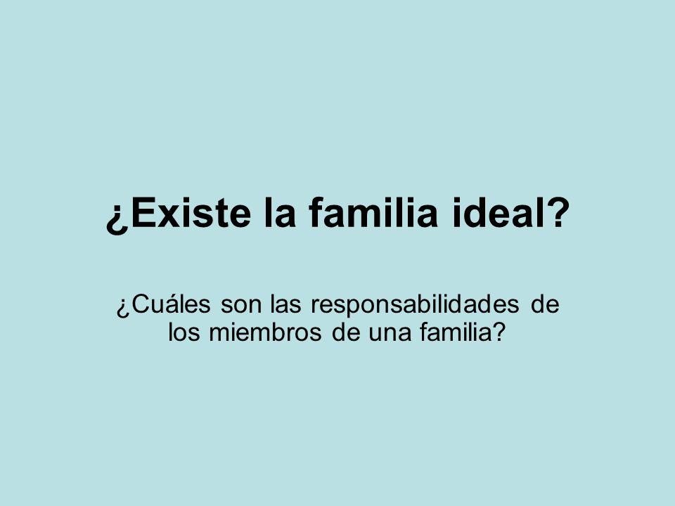 ¿Existe la familia ideal