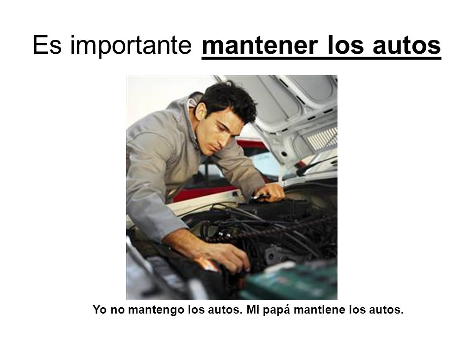 Es importante mantener los autos