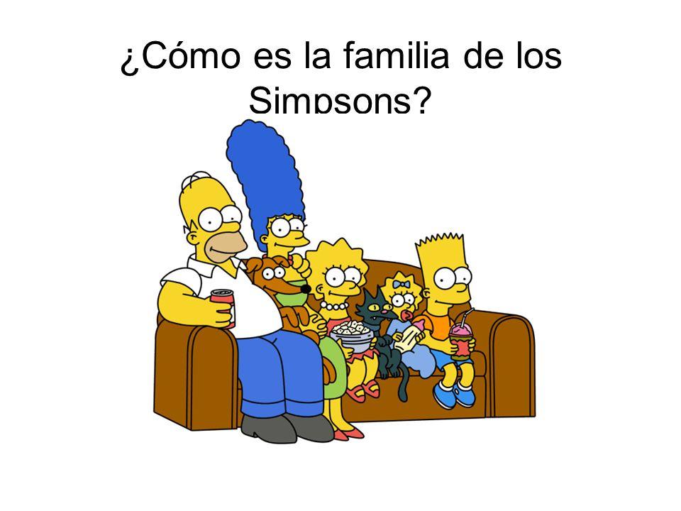 ¿Cómo es la familia de los Simpsons