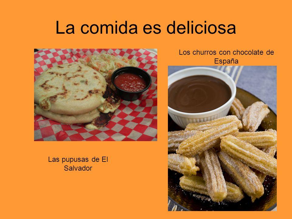 La comida es deliciosa Los churros con chocolate de España