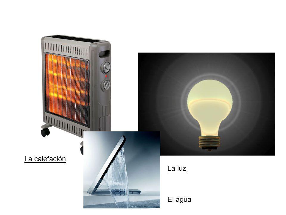 La calefación La luz El agua