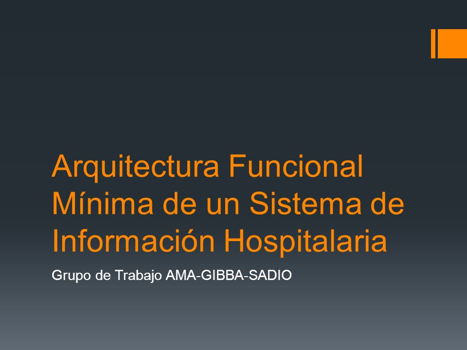 Grupo de Trabajo AMA-GIBBA-SADIO