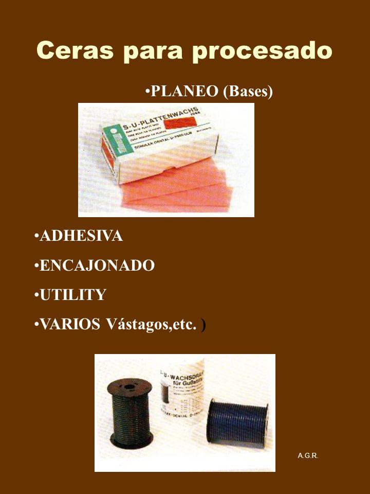 Ceras para procesado PLANEO (Bases) ADHESIVA ENCAJONADO UTILITY