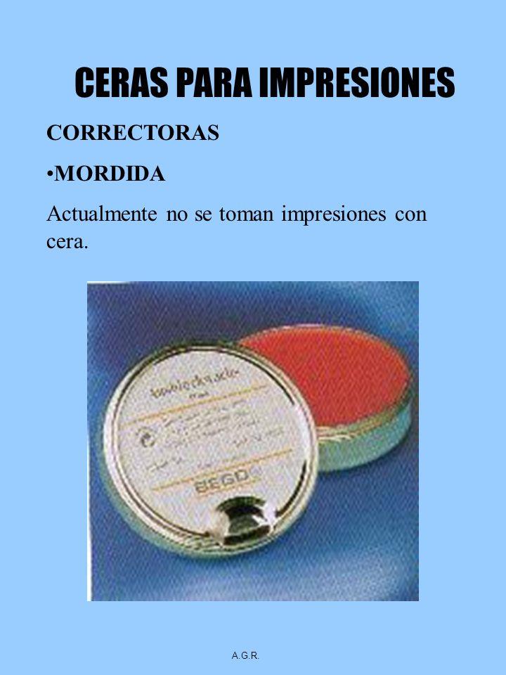 CERAS PARA IMPRESIONES CORRECTORAS MORDIDA