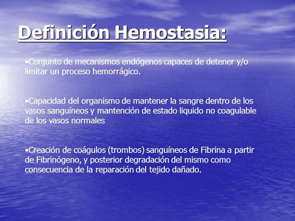 Definición Hemostasia: