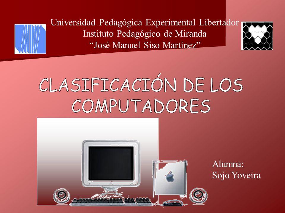 CLASIFICACIÓN DE LOS COMPUTADORES