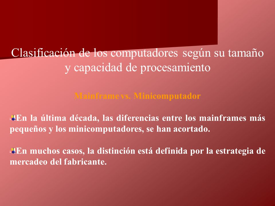 Mainframe vs. Minicomputador