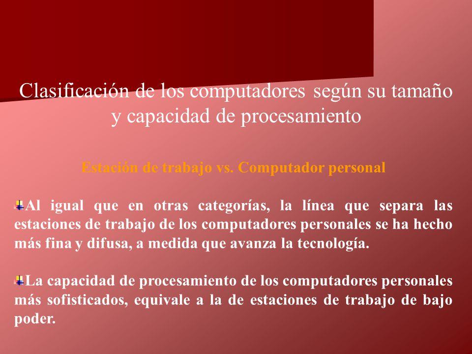 Estación de trabajo vs. Computador personal