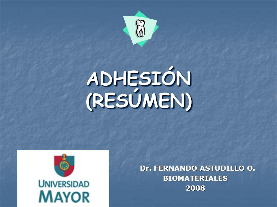 Dr. FERNANDO ASTUDILLO O. BIOMATERIALES 2008