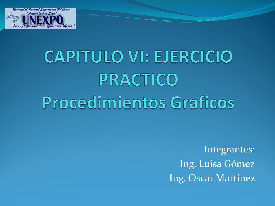 CAPITULO VI: EJERCICIO PRACTICO Procedimientos Graficos