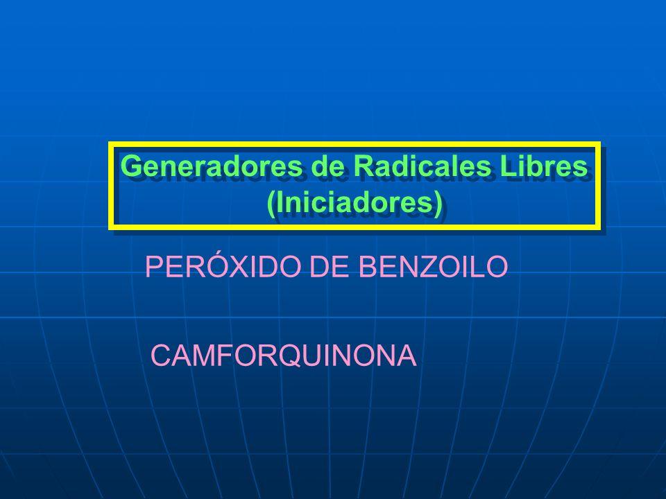 Generadores de Radicales Libres (Iniciadores)