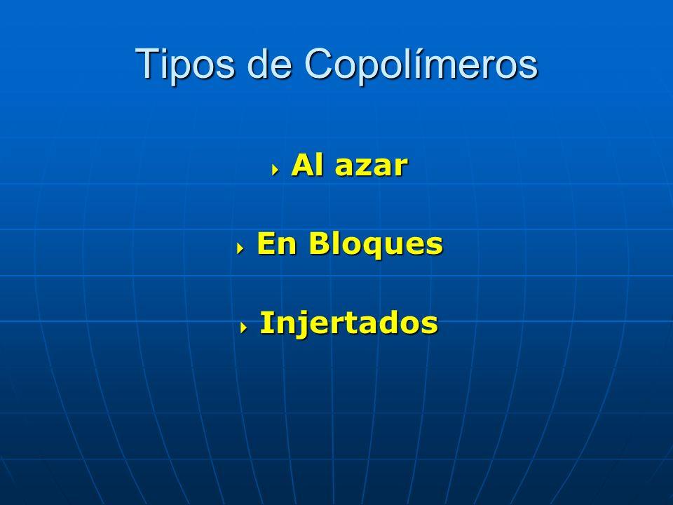 Tipos de Copolímeros Al azar En Bloques Injertados