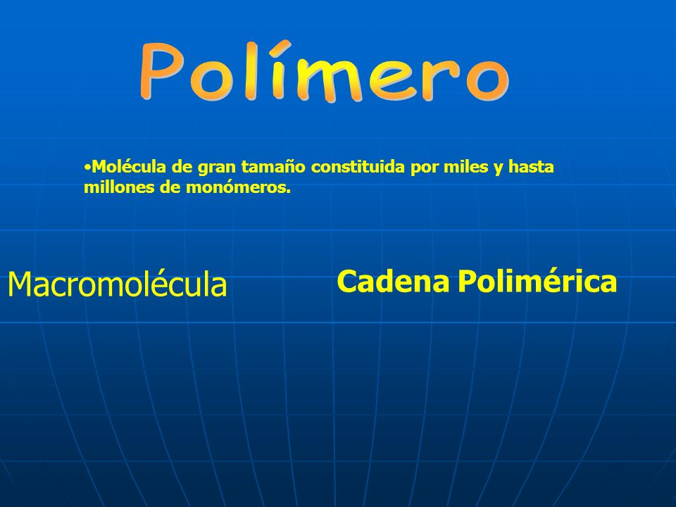 Macromolécula Cadena Polimérica Polímero