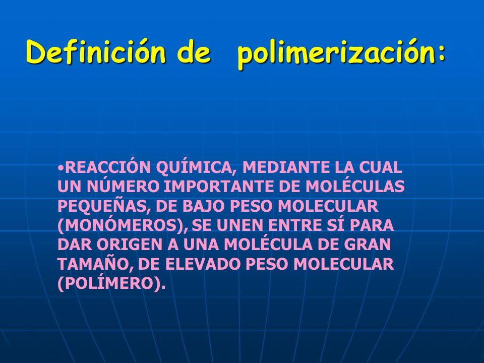 Definición de polimerización: