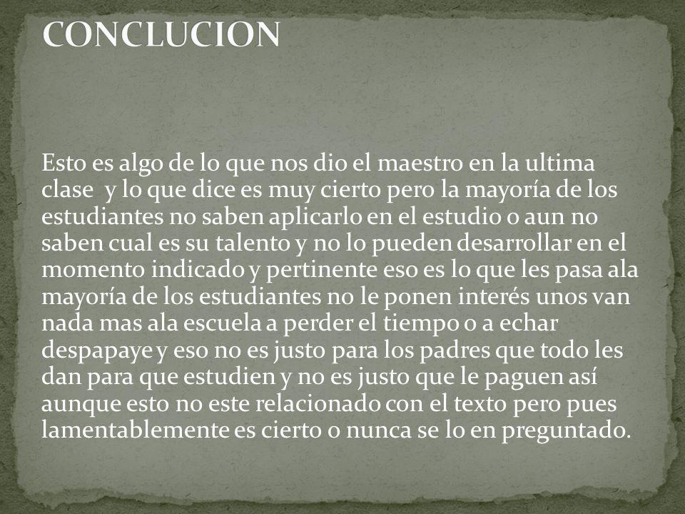 CONCLUCION