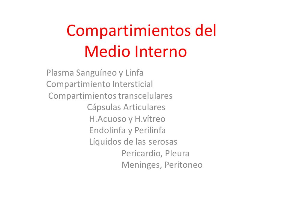Compartimientos del Medio Interno